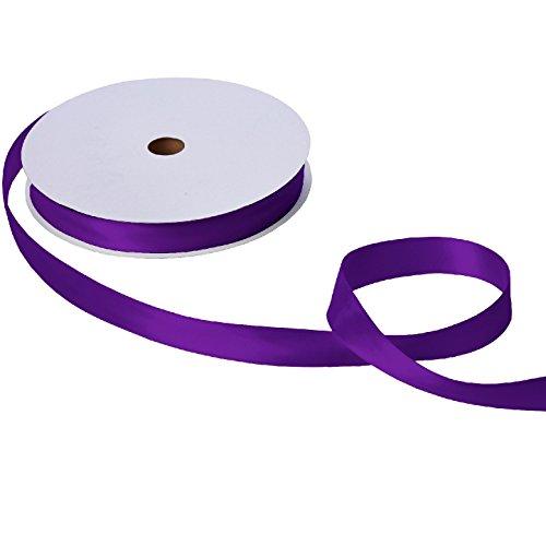 Jillson & Roberts Double-Faced Satin Ribbon, 1'' Wide x 100 Yards, Purple by Jillson Roberts