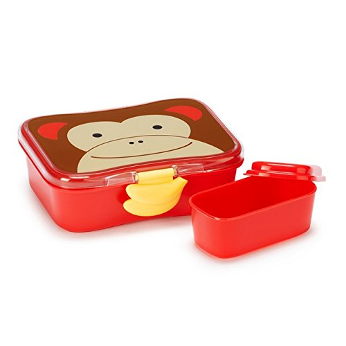 Skip Hop Baby Zoo Little Kid and Toddler Mealtime Lunch Kit Feeding Set, Multi, Marshall Monkey Monkey Lunch
