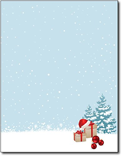 Xmas Morning Holiday Paper - 80 Sheets - Christmas Holiday Stationary