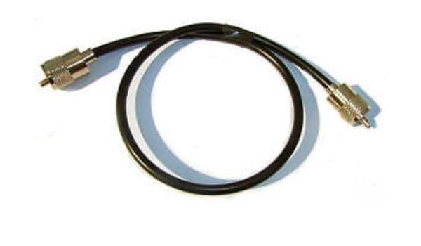 Mini RG8 RG8 X cable coaxial cable 1 m con conectores PL259 UHF: Amazon.es: Electrónica
