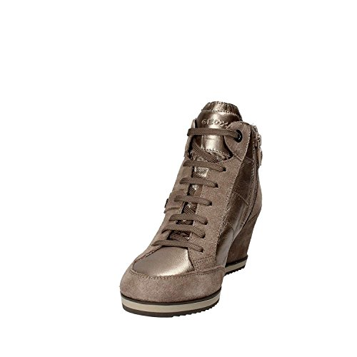 Geox , Chaussures de ville à lacets pour femme Marron
