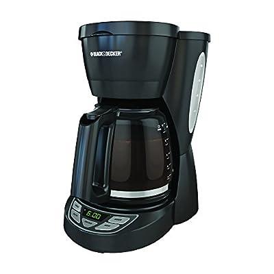 George Foreman Black & Decker CM0950B 12-Cup Coffee Maker, Black