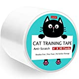 ONEPEK Anti-Scratch Cat Training Tape,4 inches x 30 Yards (33% Wider) Cat Scratching Deterrent Tape,Clear Furniture Protector for Couch, Carpet, Doors, Counter Tops - Double-Sided Cat Scratch Tape