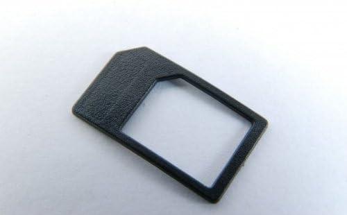 Microsim Adapter Mit Eingebauter Halterung Sicheres Einlegen Ohne Klebefixierung Farbe Schwarz Für Iphone 4 Ipad Micro Sim Karten Zur Verwendung Als Normale Sim Karte Elektronik