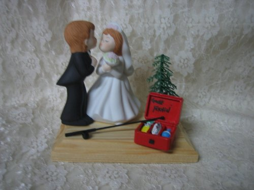 Humorous Redneck Wedding Fishing Cake Topper (Fishing Wedding Cake compare prices)