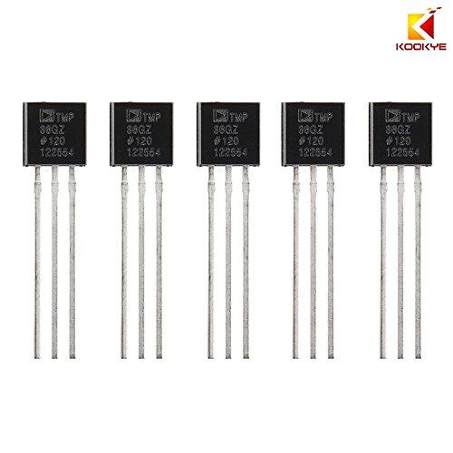KOOKYE 5PCS Temperature Sensors TMP36 Precision Linear Analog Output For Arduino Raspberry Pi