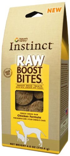 Nature's Variety Instinct Raw Boost Bites Freeze-Dried Treats, Chicken, 4-Ounce Package, My Pet Supplies