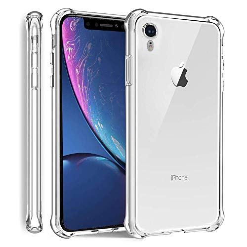 AXYOFSP Compatible iPhone XR Case,Crystal Clear Cases Shock Absorption Bumper Soft TPU Ultra Slim Thin Full Cover - 6.1