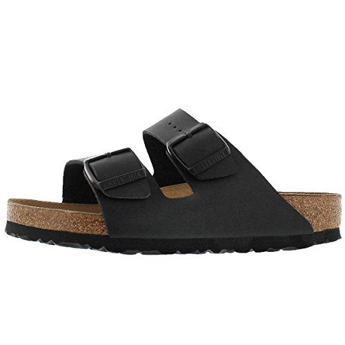 Birkenstock Women's Arizona 2 Strap Soft Cork Footbed Sandal Black 37 M (Birkenstock Suede Sandals)