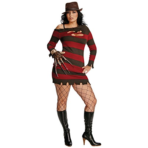 [Adult Plus Size Freddy Krueger Costume Size (14-16)] (Women Freddy Krueger Costumes)