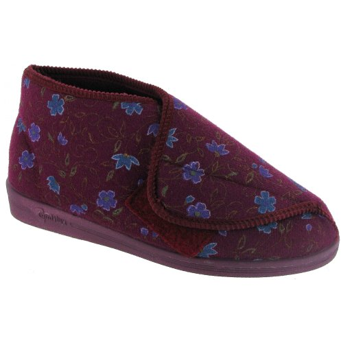 Comfylux Mull Touch Fastening Bootee/Ladies Slippers/Ladies Bootee Blue daggCjNp