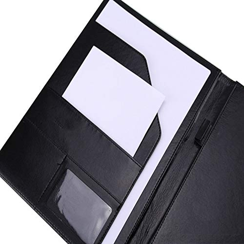 Portfolio Folder, POSTA Professional A4 Padfolio, Interview Resume Document Organizer, Business Portfolio, Document Storage, Writing Pad, Black Photo #5