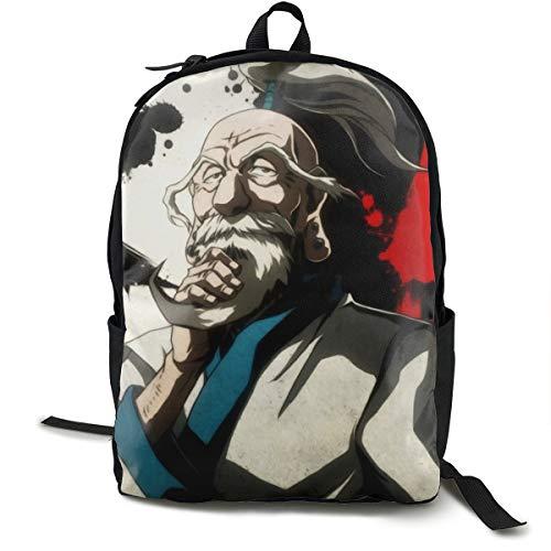 Angela R Mathews Hunter X Hunter-Isaac Netero Anime Cartoon Cosplay Canvas Shoulder Bag Backpack Cool Lightweight Travel Daypacks School Backpack Laptop Backpack ()