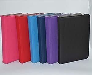 Barclay Domett Funda Universal De Cuero Con Tapa , Con Soporte Giratorio 360 Grados y Con Funcion Atril y Opcion De Reposo Para Tablet de 8.9 Pulgadas a 10.1 Pulgadas Color Rojo