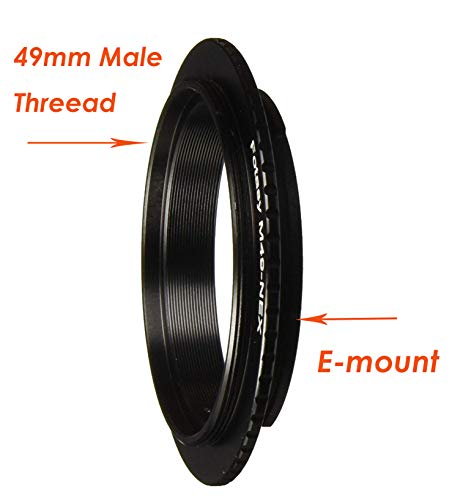 Fotasy 49mm Macro Reverse Adapter Ring for Sony E Mount Camera, compatible with Lens with 49mm Filter Diameter & Sony NEX-5T NEX-6 NEX-7 a3000 a3500 a5000 a5100 a6000 a6300 a6400 a6500