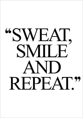 amazon sweat smile and repeat fitness journal personal training