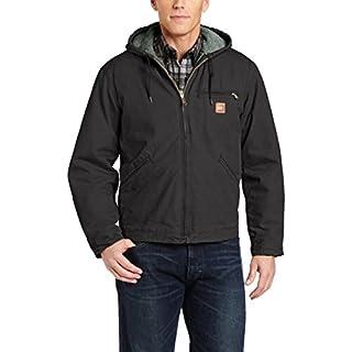 Carhartt Men's Sherpa Lined Sandstone Sierra Jacket,Black,Large