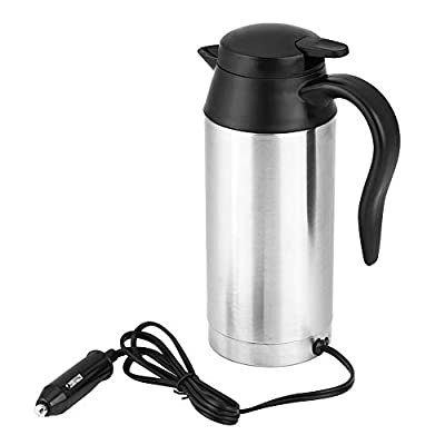 ANGGREK 750ml Auto Wasserkocher Edelstahl 12v Reisewasserkocher Elektrische Schnell Kochendes Reise Heizung Cup for…
