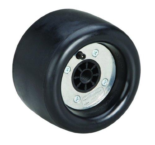 (Dynabrade 94472 5-Inch Diameter by 3-1/2-Inch Wide Standard Dynacushion Pneumatic Wheel, Black)