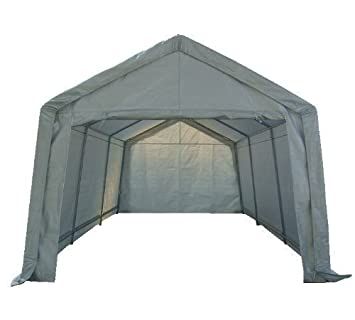 FoxHunter Heavy Duty Waterproof 3m X 6m Carport Party Tent Canopy White  180g Polyster Steel Frame