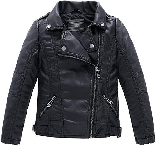 Echinodon Bikerjack voor jongens, leren jas, motorjack van kunstleer