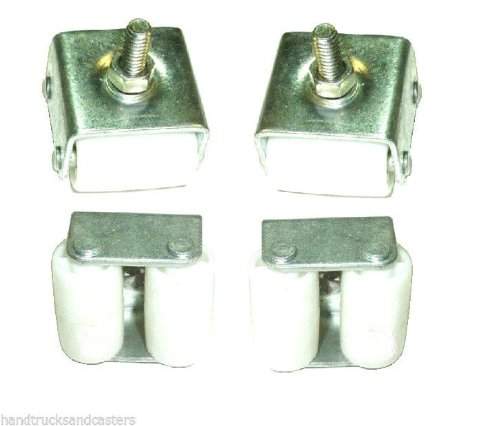 Set of 4 Dual Wheel Refrigerator or Freezer Casters Low (4 Dual Wheel Casters)