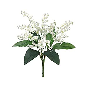 Lily of the Valley Bouquet Sprays Silk Wedding Flowers Centerpieces Bridal Decor 76
