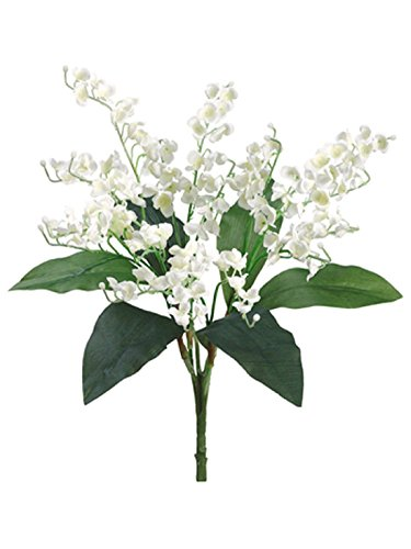 The Bouquet Of Lily Valley (Lily of the Valley Bouquet Sprays Silk Wedding Flowers Centerpieces Bridal Decor)