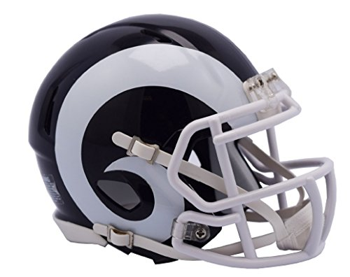 NFL Los Angeles Rams Speed Mini Replica Helmet, White, Medium by Riddell
