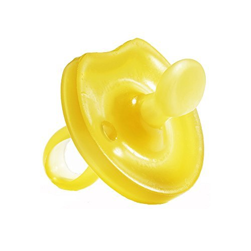 Natursutten Natural Rubber Pacifier Small 0-6 mos Orthodontic Nipple Butterfly Shield.