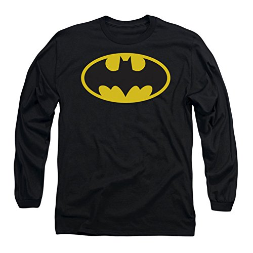 "Batman+Shirts Products : BATMAN ""CLASSIC LOGO LONG SLEEVES"" DC Comics Licensed Black L/S Cotton Tee"
