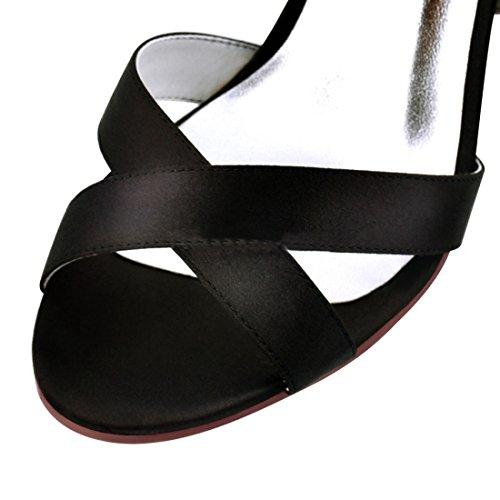 Heel 36 Pour Femme MinitooUK Black Noir 5 Minitoo 10cm MZ8226 EU Sandales ZRxnnwz