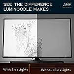 "Luminoodle Bias Lighting, Backlight Kit for Monitors up to 24"" - USB LED Light Strip - Computer Monitor Backlight - True White Adhesive Strip - White - Small (<24"" TV) 9"