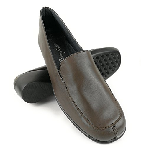 Zerimar Chaussures en Cuir Pour Femme Chaussures Femme Confort Couleur Marron Taille 41