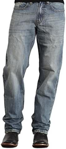 Stetson Men's Tall Washed Distressed Straight Leg Jean