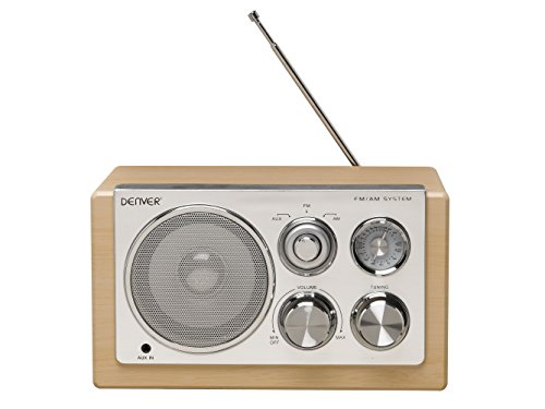 Denver 12213480 Smart Design AM/FM Radio holz