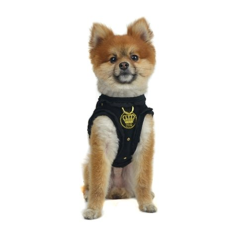 Dogs of Glamour Glam Quilted Harness, Medium, Black