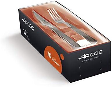 Arcos 378100 - Juego de cuchillo chuletero y tenedor, 100 mm ...