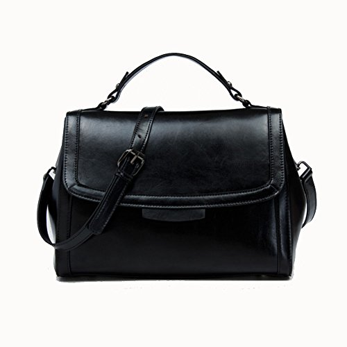 Messenger 28Cm 5Cm Tote 20 Summer Bag Bag 13Cm Leather Women's Black Shoulder CndS0fxqd