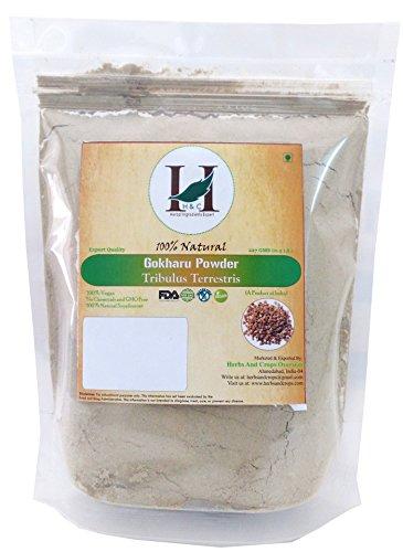 100% Natural Organically Grown Tribulus Terrestris Powder / Gokharu Powder / Gokshura Powder - 227 gms / 1/2 LB Pound / 08 Oz - Promotes Overall Health - GMO and GLUTEN FREE