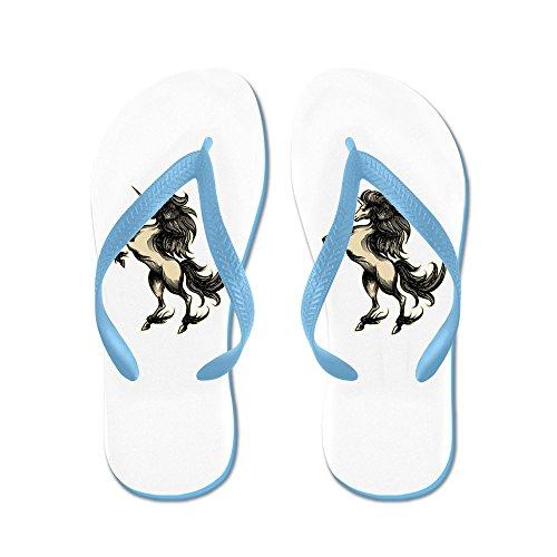 Virkelig Teague Menns Unicorn Heraldikk Gravering Stil Gummi Flip Flops Sandaler Caribbean Blue
