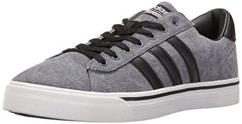 adidas Men's Cloudfoam Super Daily Sneakers, Black/Grey/White, (9.5 M US)