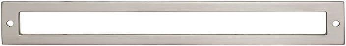 TK928BSN Hollin Backplate Brushed Satin Nickel Lynwood Collection Top Knobs