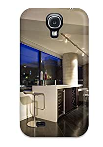 Galaxy S4 Hard Back With Bumper Silicone Gel Tpu Case Cover Wine Bar With Barstool Seating And Contemporary Track Lighting