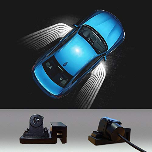 2 pcs Universal Car Projection LED Projector Door Shadow Light Welcome Light Laser angel wings Lamps Kit (Car Projector)