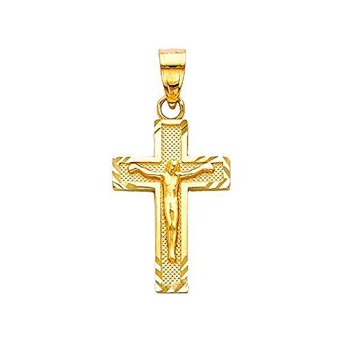 Petit Treasure - 14 ct 585/1000 Or Angelica Crucifix Pendentif