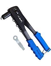 S&R Remachadora Manual Profesional 2,4-5,0mm para Remaches de Acero y Aluminio. Remachadora Ojales para Remaches Ciegos Profesional.