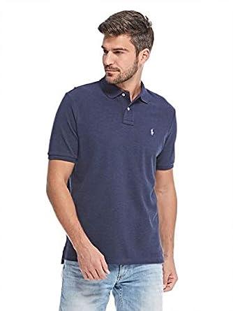 6ecf82e2c Polo Ralph Lauren Classic Fit Polo T-Shirt for Men - Navy: Amazon.ae