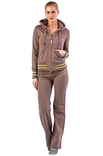 Vertigo Paris Women's Logo Cotton Lounge Tracksuit Jog Set - Coriander - Medium (Logo Tracksuit)