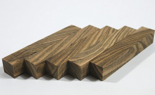 (5 Blanks) Craftwood Tiger Stripe Wood Turning Blanks Wooden Pens Block 20mm x 20mm x 127mm Xliji